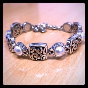 Brighton Scroll & Pearl Bracelet